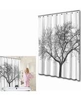 Shower Curtain With Tree Design Slash Prices On White Shower Curtain 100 Waterproof U0026 Eco