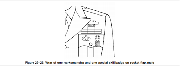 army regulation 670 1 marksmanship badges and tab section