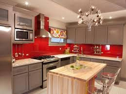 kitchen foxy l shape kitchen decoration using red paint for