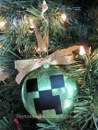 Decorate Christmas Tree Minecraft by Diy Minecraft Ornaments Christmas Crafts Pinterest Ornament