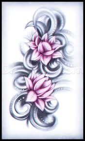 how to draw a lotus flower tattoo step by step tattoos pop