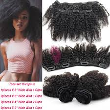 gray hair pieces for american 6a virgin mongolian afro kinky curly clip ins african american