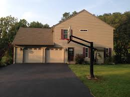 3 Car Garage House Looking Up Toward The House Sporting A 3 Car Garage The