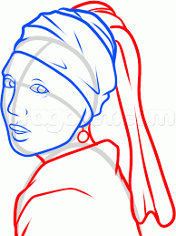 girl earring how to draw girl with a pearl earring girl with a pearl earring