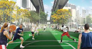 miami herald the underline u0027s brickell backyard outdoor gym and