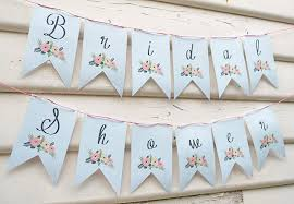 simple bridal shower bridal shower banner instant printable