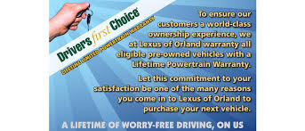 lexus warranty certified pre owned lifetime limted powertrain warranty lexus of orland