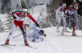 italy u0027s laurent crashes as norway u0027s oestberg sweden u0027s norgren and