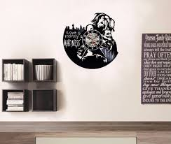 harley decal love joker wall clock decorate your home with