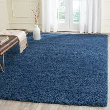 plush pile blue shag rug laguna collection safavieh com
