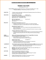sle internship resume mechanical engineer internship resume 6 engineering intern expert