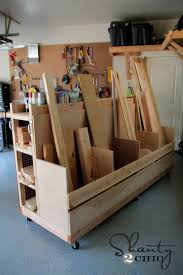 Building Wood Garage Shelves by Garage Organization Diy Lumber Cart Shanty 2 Chic