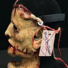 halloween skin mask mutilated skin latex mask by blood line designs mad about horror
