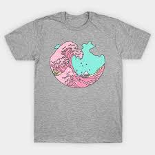 Surf Shirt Meme - japanese pastel kawaii anime meme surf beach wave anime t shirt
