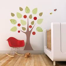 apple tree leafy dreams nursery decals removable kids wall apple tree with birds wall decal sticker
