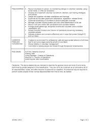 Resume Job Duties List by Best Photos Of Volunteer Job Descriptions For Resume Volunteer