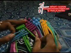 cara akhir membuat tas dari tali kur tutorial tas tali kur membuat motif butterfly atau kupu kupu by