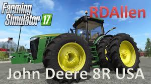 john deere tractor game 8335r john deere tractor john deere l la new holland t6 john deere john deere 8r usa version farming simulator 17 mod review youtube