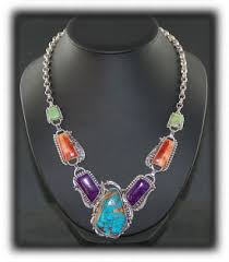 silver necklace with gemstone images John hartman jewelry jpg