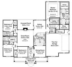 First Floor House Plan 4 Bedrm 2750 Sq Ft Acadian House Plan 141 1082
