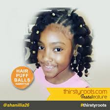 hair puff puff balls hairstyle for black