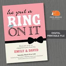 Party Invitations With Rsvp Cards Engagement Party Custom Engagement Party Invitations Card