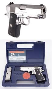 colt officers acp mk iv series 80 high polished stainless finish