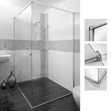 fully installed stegbar semi frameless showerscreen available at