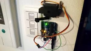 servo motor controlled wireless light switch device plus