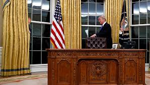 vladimir putin clearly visible hiding behind oval office curtain