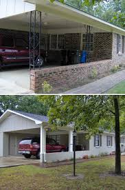 before and after this 60 u0027s brick rancher had dated brick and
