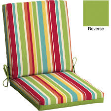 Patio Chairs With Cushions Mainstays Outdoor Patio Reversible Dining Chair Cushion Multi