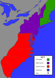 map of colonies the 13 colonies map project thinglink