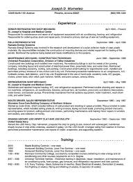 Resume Example Letter by Maintenance Resume Example