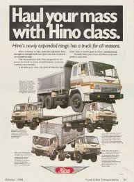 hino truck line advertisment throwback thursday