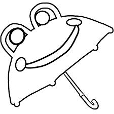 umbrella coloring page printable worksheets for kids clip art