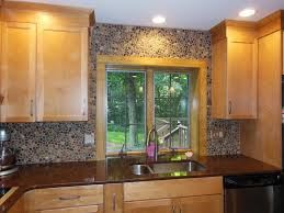 kitchen design 20 photos pebble tiles kitchen backsplash middle