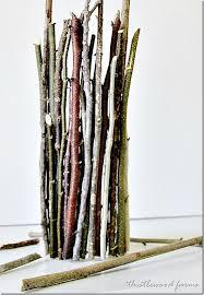 sticks wood wood stick vase thistlewood farm