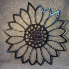 giant sunflower metal art
