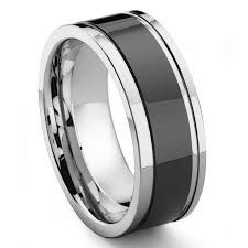 two tone mens wedding band 2nd generation tungsten carbide two tone wedding band ring w grooves