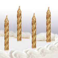 gold birthday candles 10 spiral birthday cake candles gold products