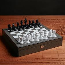 chess set carbon fiber wilouby touch of modern