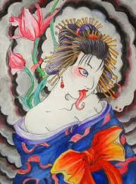 traditional japanese hannya mask geisha designs tattoomagz