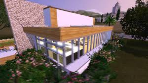 the sims 3 house designs hillside hideaway a modern cliffside