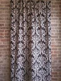 Black And Cream Damask Curtains Black Damask Bathroom Window Curtain Valance Damask Black And