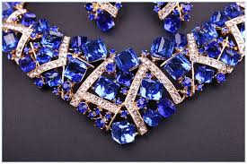 crystal choker necklace set images 2017 women sparkling pink crystal choker necklace earring set jpg