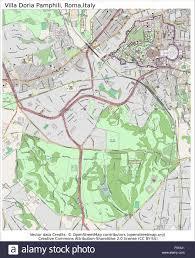 Italy Cities Map by Villa Doria Pamphili Rome Italy City Map Aerial View Stock Vector