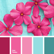 matching colours with pink pink and blue color palette ideas