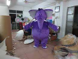 halloween mascot costumes cheap 2016 purple elephants mascot costume fancy dress size