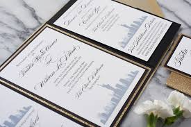 wedding invitations chicago the tristin suite skyline wedding invitation all that glitters